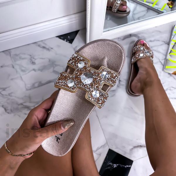 Champagne kamínkové pantofle-248404-38