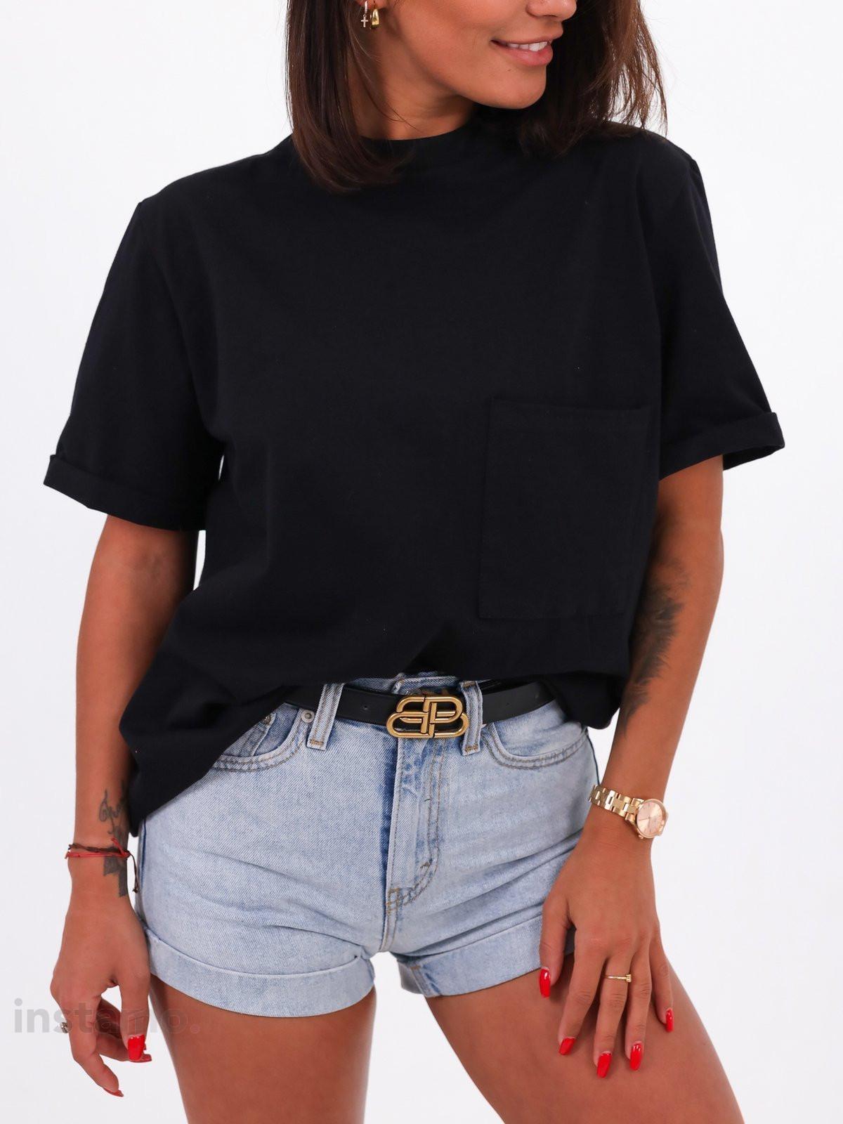 Černé bavlněné tričko-248515-34