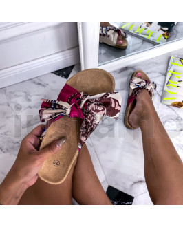 Fuchsiové  korkové pantofle