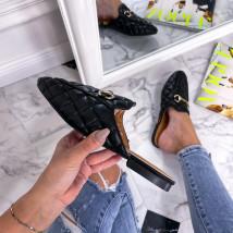 Černé pantofle se sponou-240256-023