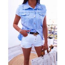Modrá zdobená Košile-246216-01