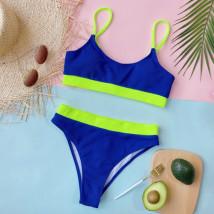 Modro zelené dvoudílné plavky-248379-019