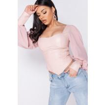 Růžový stylový top-248810-02