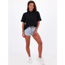 Černé bavlněné tričko-248515-04